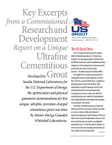 Key Excerpts from the R&D Report of an Ultrafine Cementitious Grout