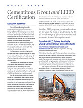 Cementitious Grout and LEED Certification